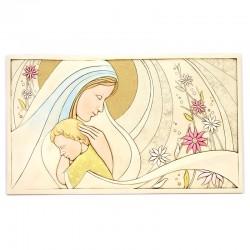 Quadro Maternità moderna in resina colorata 90x50 cm