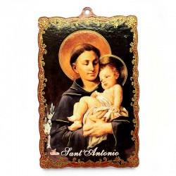 Quadretto Sant'Antonio in mdf 8x12 cm