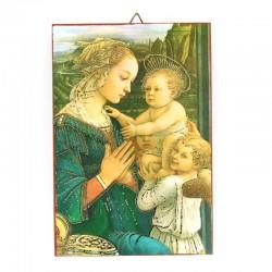 Quadretto Madonna del Lippi con Bambino 10x15 cm