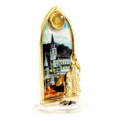 Picture of Our Lady of Lourdes and Basilica 3.5x6 cm