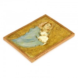 Madonna of Ferruzzi picture bas relief in resin 15x20 cm