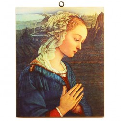 Madonna by Lippi picture print on canvas 30x40 cm