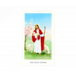 Immagine Gesù Buon Pastore con preghiera 11x6 cm pz 100