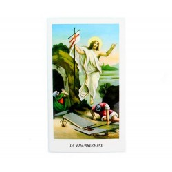 Image Risen Jesus and Soldiers with Prayer 100 pieces 11x6 cm