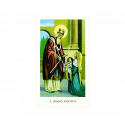 Immagine San Biagio con preghiera 11x6 cm pz 100