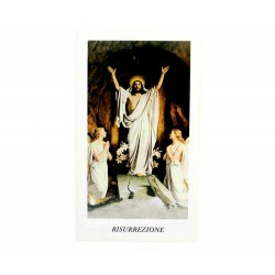 Image Risen Jesus B with Prayer 100 pieces 11x6 cm