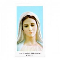 Immagine Nostra Signora di Medjugorje con preghiera 6x11 cm pz 100