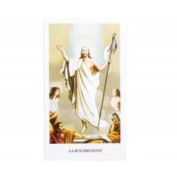 Image Risen Jesus A with Prayer 100 pieces 11x6 cm
