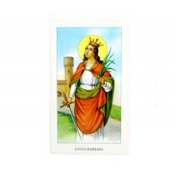 Immagine Santa Barbara con preghiera 6x11 cm pz 100