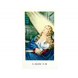 Immagine Sant'Agata con preghiera 6x11 cm pz 100