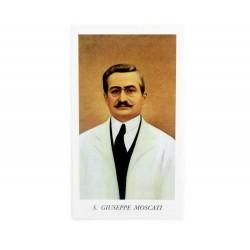 Immagine San Giuseppe Moscati con preghiera 6x11 cm pz 100