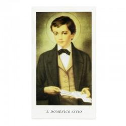 Immagine San Domenico Savio con preghiera 6x11 cm pz 100