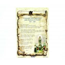 Cartoncino preghiera Madonna di Fatima 10x15 cm 100 pz