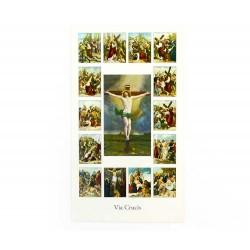 Immagine Via Crucis con preghiera 11x6 cm pz 100