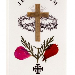 Image Gethsemane Garden and Cross with Flower 6x12 cm