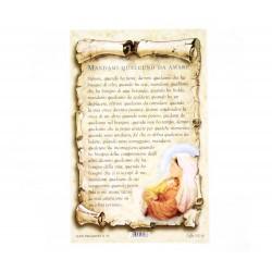 Cartoncino preghiera - Mandami qualcuno da amare 10x15 cm 100 pz