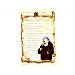 Cartoncino preghiera - Preghiera dell'ammalato 10x15 cm 100 pz