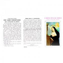 Pagellina pieghevole tre pagine Santa Rita 100 pezzi