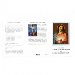 Pagellina pieghevole tre pagine Sacro Cuore di Gesù 100 pezzi