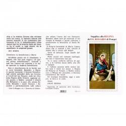 Pagellina Supplica alla Regina del SS.Rosario di Pompei 100 pezzi