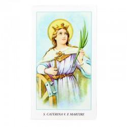 Immagine Santa Caterina Vergine e martire 6x11 cm pz 100