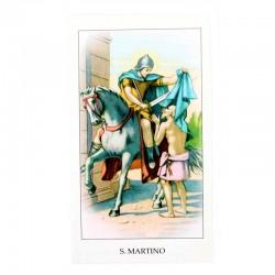 Immagine San Martino con preghiera 6x11 cm pz 100