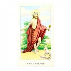 Immagine San Lazzaro con preghiera 6x11 cm pz 100