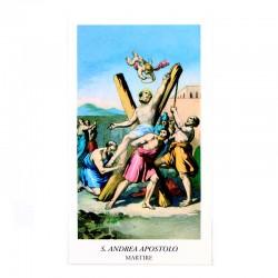 Immagine Sant'Andrea Apostolo con preghiera 6x11 cm pz 100