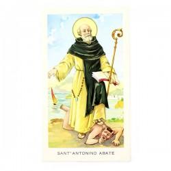 Immagine Sant'Antonino Abate con preghiera 6x11 cm pz 100