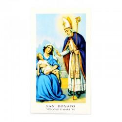 Immagine San Donato con preghiera 6x11 cm pz 100