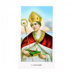 Immagine San Gennaro con preghiera 6x11 cm pz 100