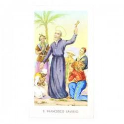 Immagine San Francesco Saverio con preghiera 6x11 cm pz 100