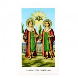 Immagine Santi Cosma e Damiano con preghiera 6x11 cm pz 100