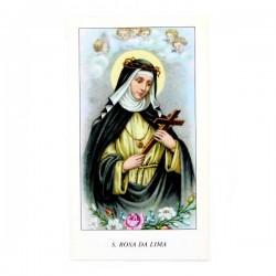 Immagine Santa Rosa da Lima con preghiera 6x11 cm pz 100
