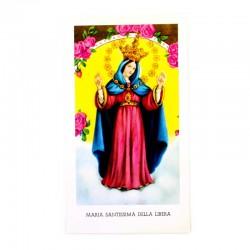 Immagine Maria Santissima della Libera con preghiera 6x11 cm pz 100