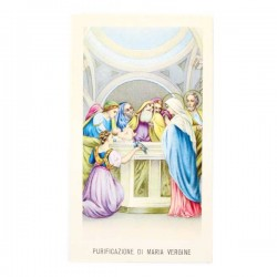 Immagine Purificazione di Maria Vergine con preghiera 6x11 cm pz 100