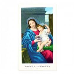 Immagine Madonna della Provvidenza con preghiera 6x11 cm pz 100