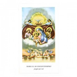 Immagine Maria SS. di Costantinopoli con preghiera 6x11 cm pz 100