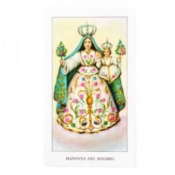 Immagine Madonna del Rosario con preghiera 6x11 cm pz 100