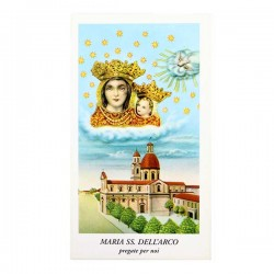 Immagine Maria SS. Dell'Arco-A con preghiera 6x11 cm pz 100