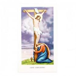 Immagine Gesù Crocifisso con preghiera 6x11 cm pz 100