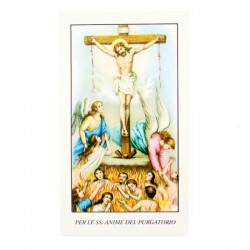 Immagine per le SS. Anime del Purgatorio-A con preghiera 6x11 cm pz 100