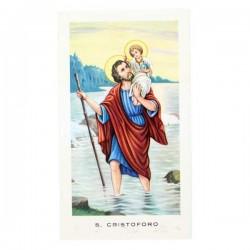 Immagine San Cristoforo con preghiera 6x11 cm pz 100