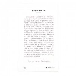 Image St. Bartholomew with prayer 100 items 6x11 cm