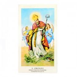 Immagine Sant'Oronzo con preghiera 6x11 cm pz 100