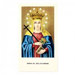 Immagine Maria SS. dell'Altomare con preghiera 6x11 cm pz 100