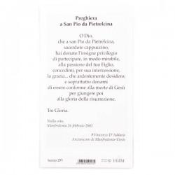 Image St. Pio of Pietrelcina with prayer 100 items 6x11 cm