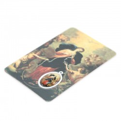 Plastified Prayer Card with Medal Mary Untier of Knots 5.5x8.5 cm