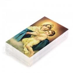Image Virgin with Baby Jesus 100 items 7x12 cm