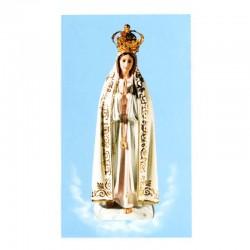 Immagine cartoncino Madonna di Fatima-B 7x12 cm pz 100